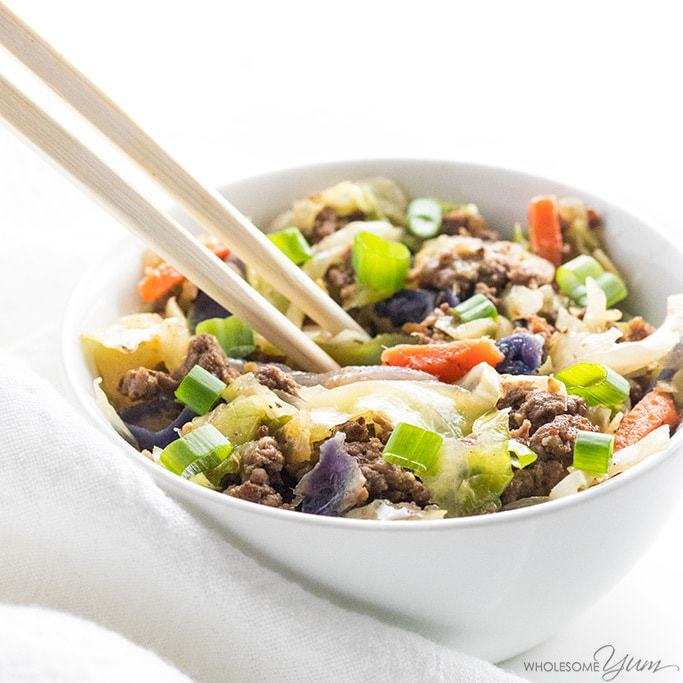 Keto Egg Roll in a Bowl