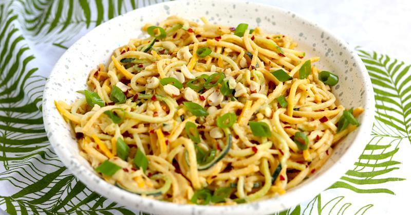 Keto meal prep noodle salad