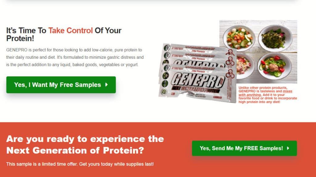 GenePro free pre workout samples