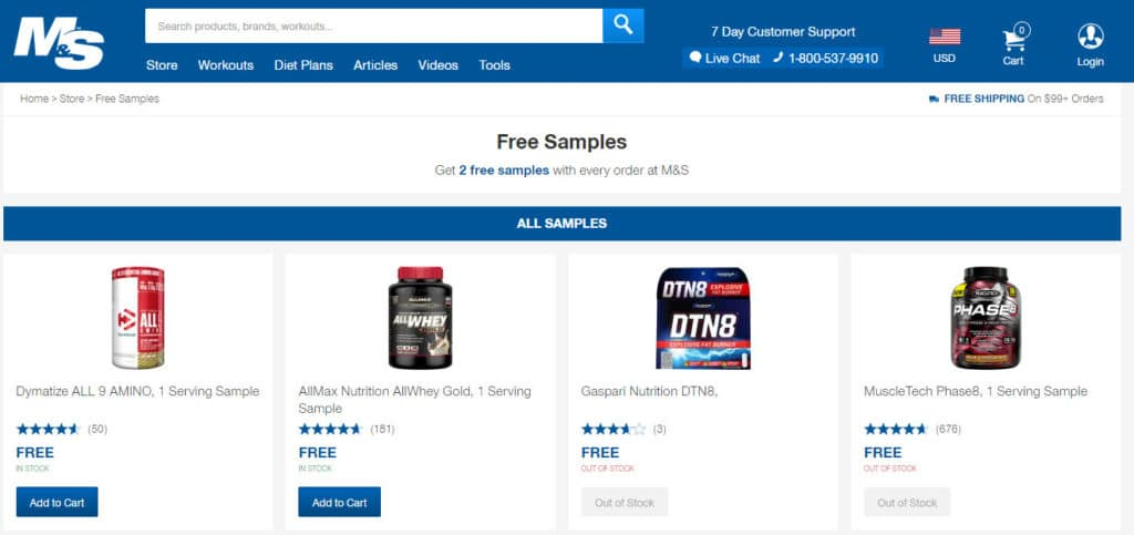 Muscle and strength free supplements