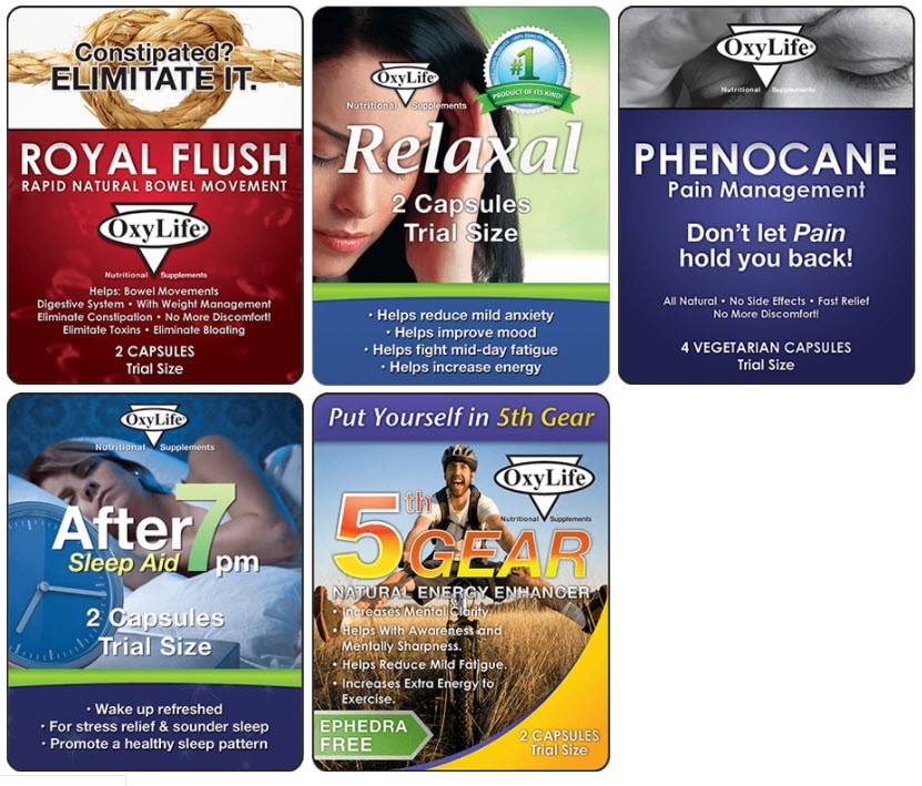 OxyLife free supplements samples by mail