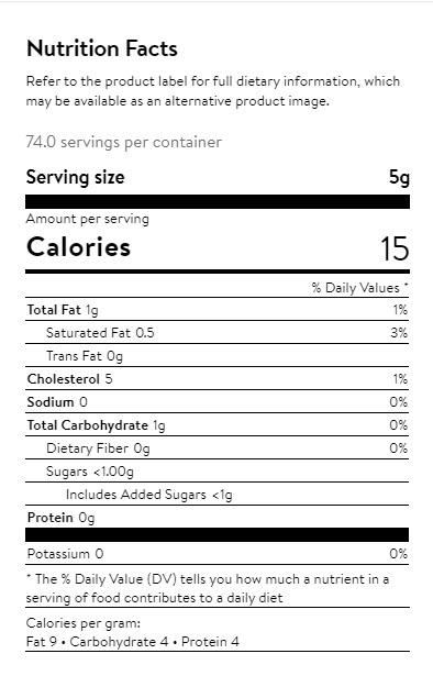 Reddi Whip Nutrition