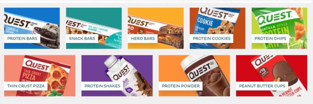 Quest Nutrition offerings