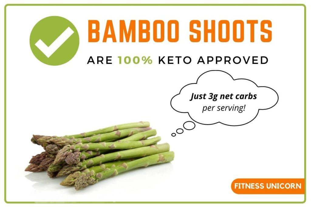 Bamboo shoots are keto friendly