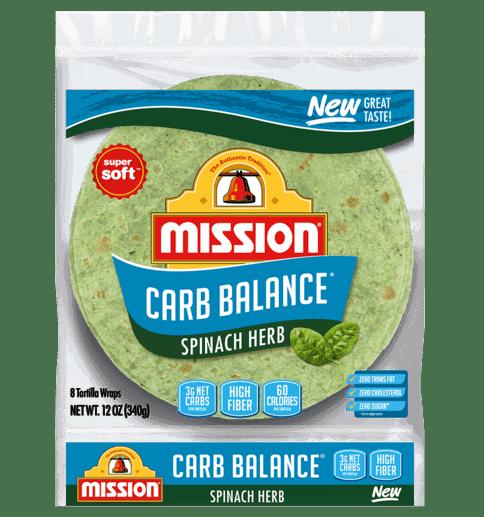 carb balance spinach wrap