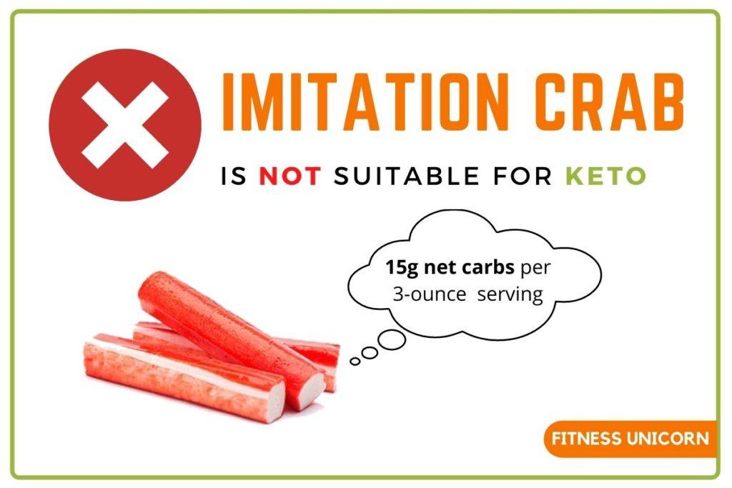 Imitation Crab is not keto