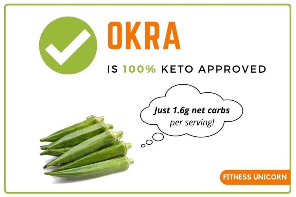 okra is keto friendly
