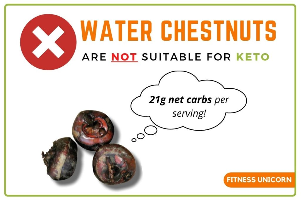 water chestnuts are not keto approved
