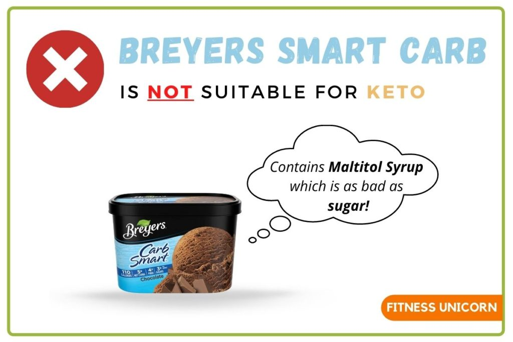 breyers smart carb is not keto