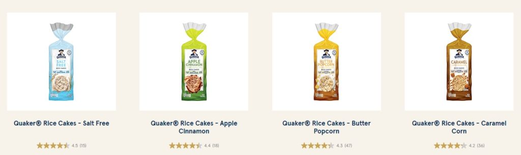 can you have quaker rice cakes on keto