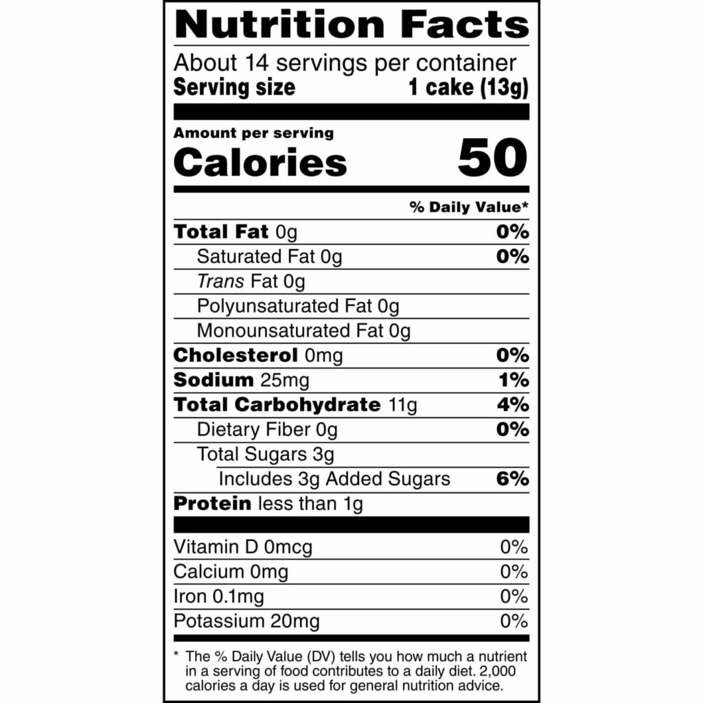 quaker caramal rice cakes nutrition