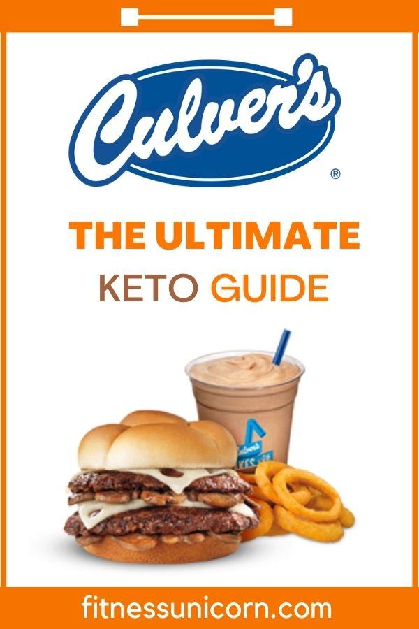 culver's keto options