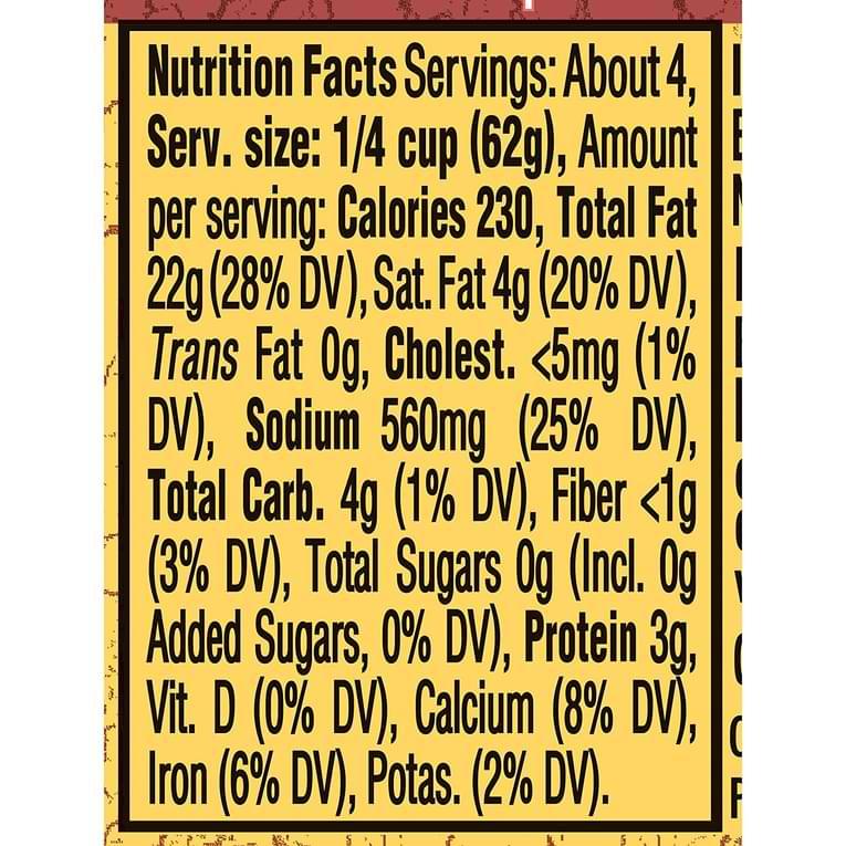 Classico Pesto Sauce Nutrition