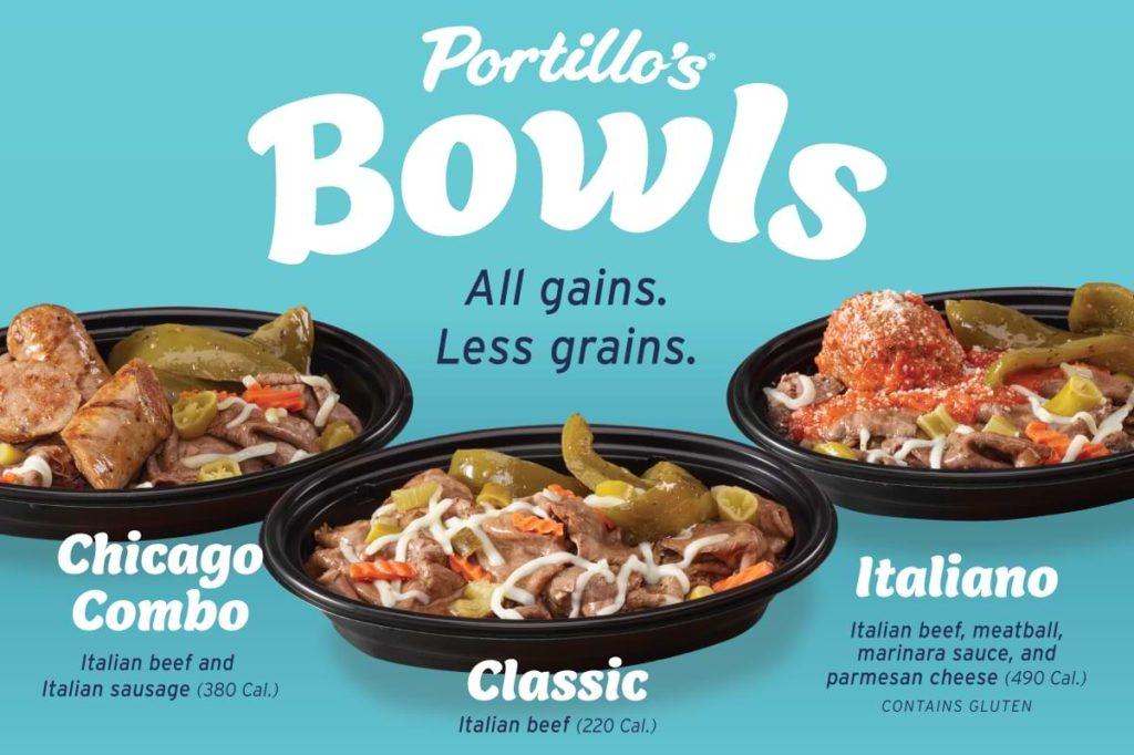 Portillo's low carb bowls