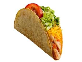 crisp chicken taco