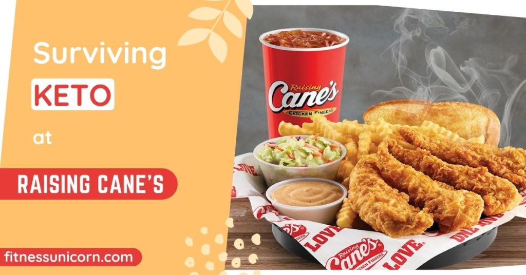 Raising Cane's keto options