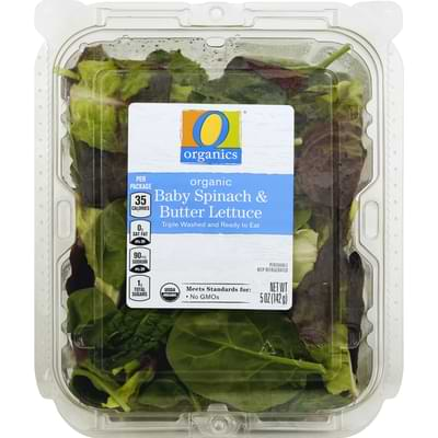 spinach and butter lettuce