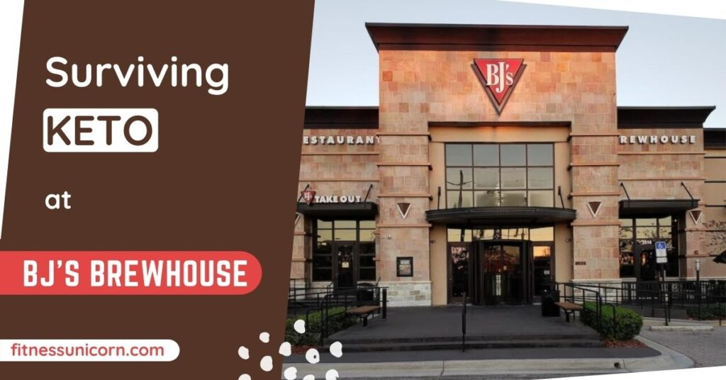 bj's brewhouse keto friendly options