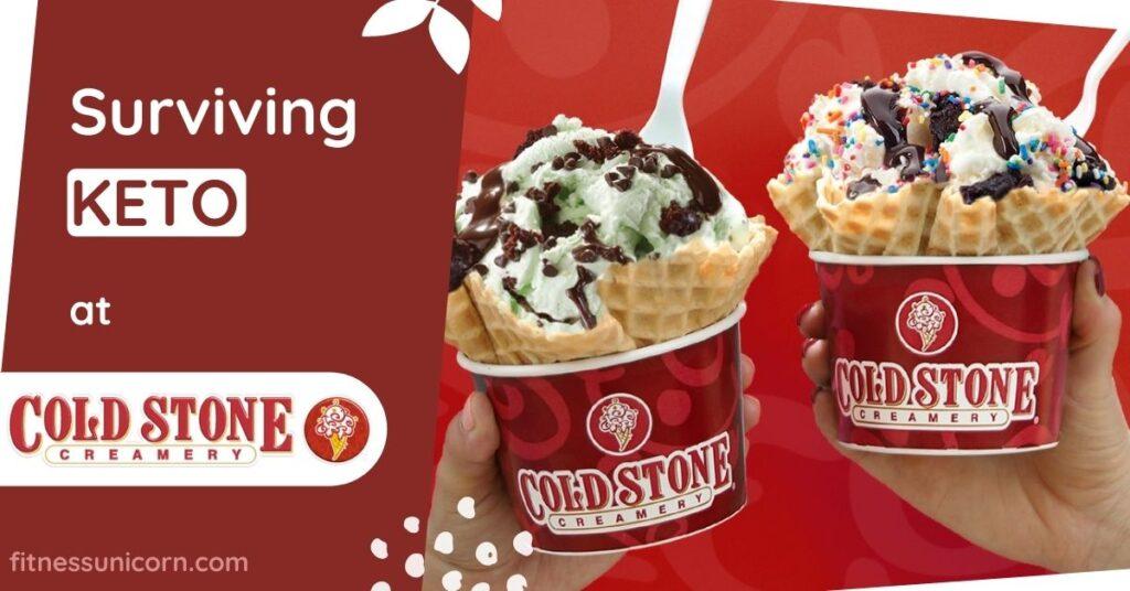 cold stone creamery keto friendly options